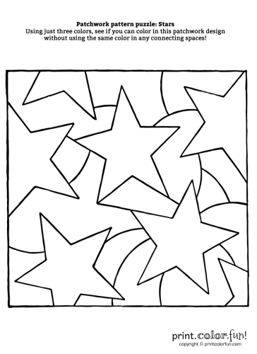Patchwork-puzzle---Stars