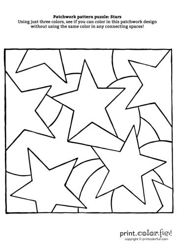 Patchwork-puzzle---Stars