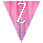 Pink-purple striped party decoration flags with white letters 6