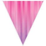Blue zig-zag party decoration flag