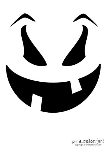 Pumpkin-carving-stencil--evil-goof