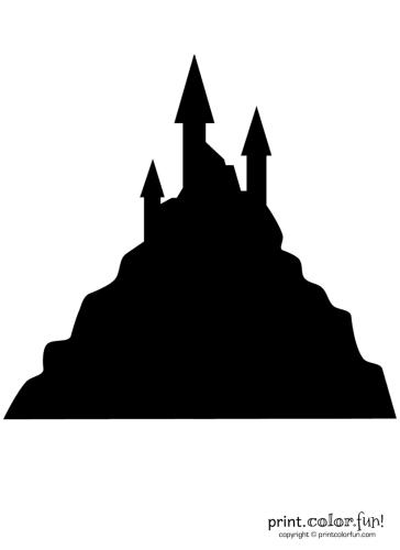 Pumpkin-carving-stencil-haunted-castle