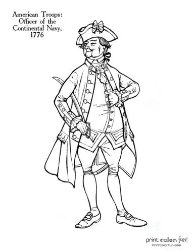 Revolutionary War Solder Coloring Pages 11 Historic Uniforms Coloring Guides Coloring Page Print Color Fun
