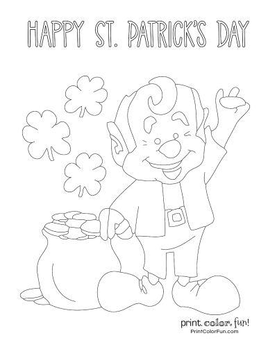 St Patrick's Day coloring page to print (2)
