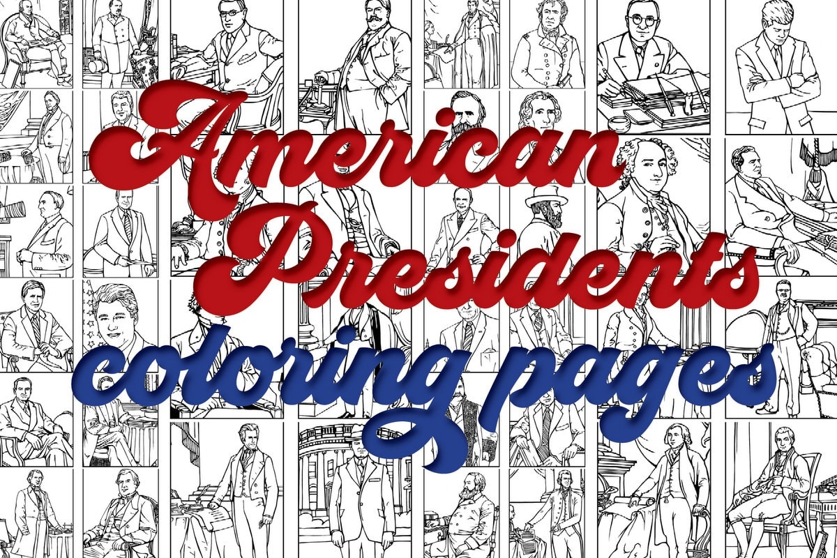 Us Presidents Coloring Pages Printables Of The First 42 American Leaders