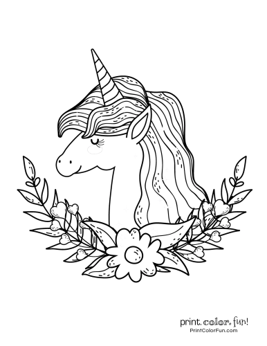 Unicorn coloring pages from PrintColorFun com (13)