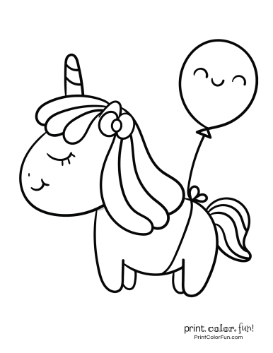 Unicorn printable coloring pages9