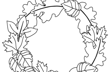 Autumn Wreath Fall Print Out And Color This Picture