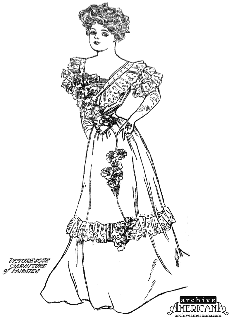 Woman In Edwardian Dress Coloring Page Print Color Fun