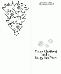 the - Printable Coloring Christmas Cards