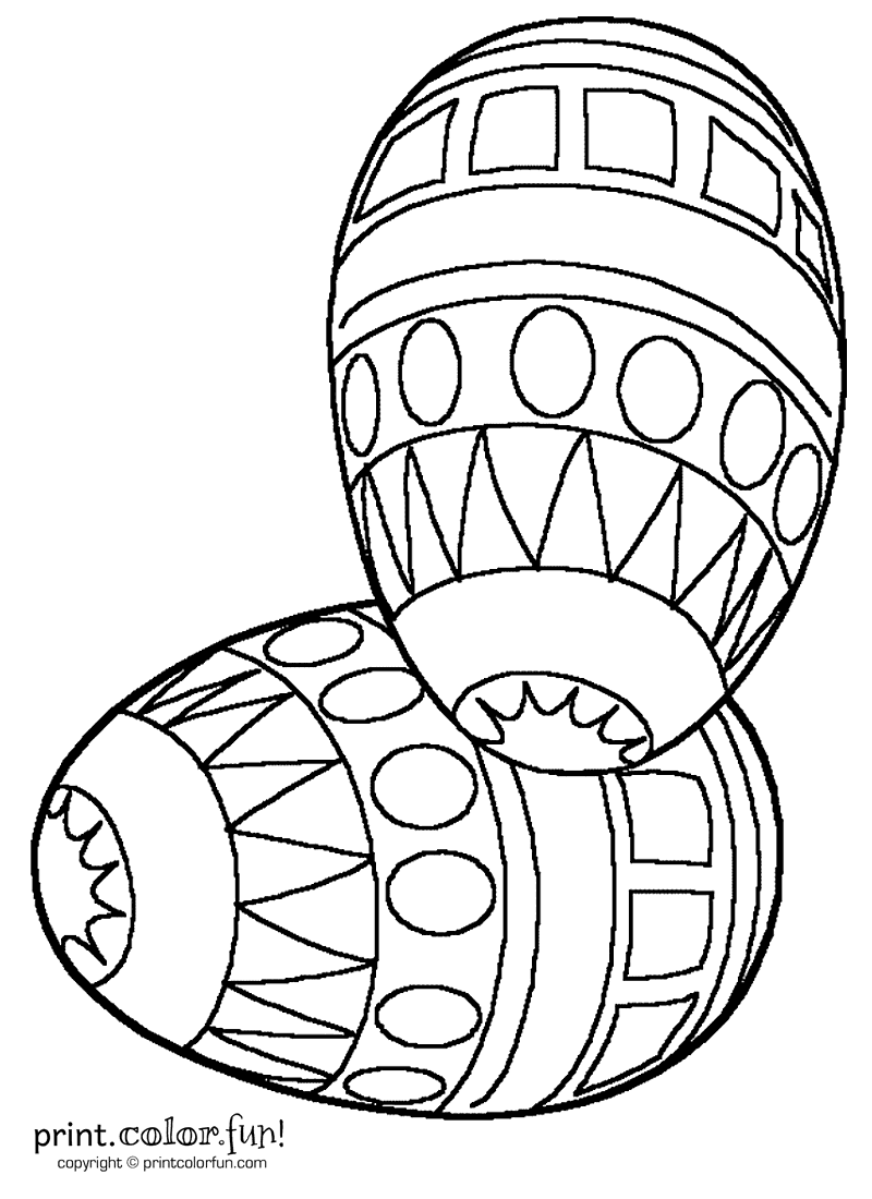 Decorated Easter eggs coloring