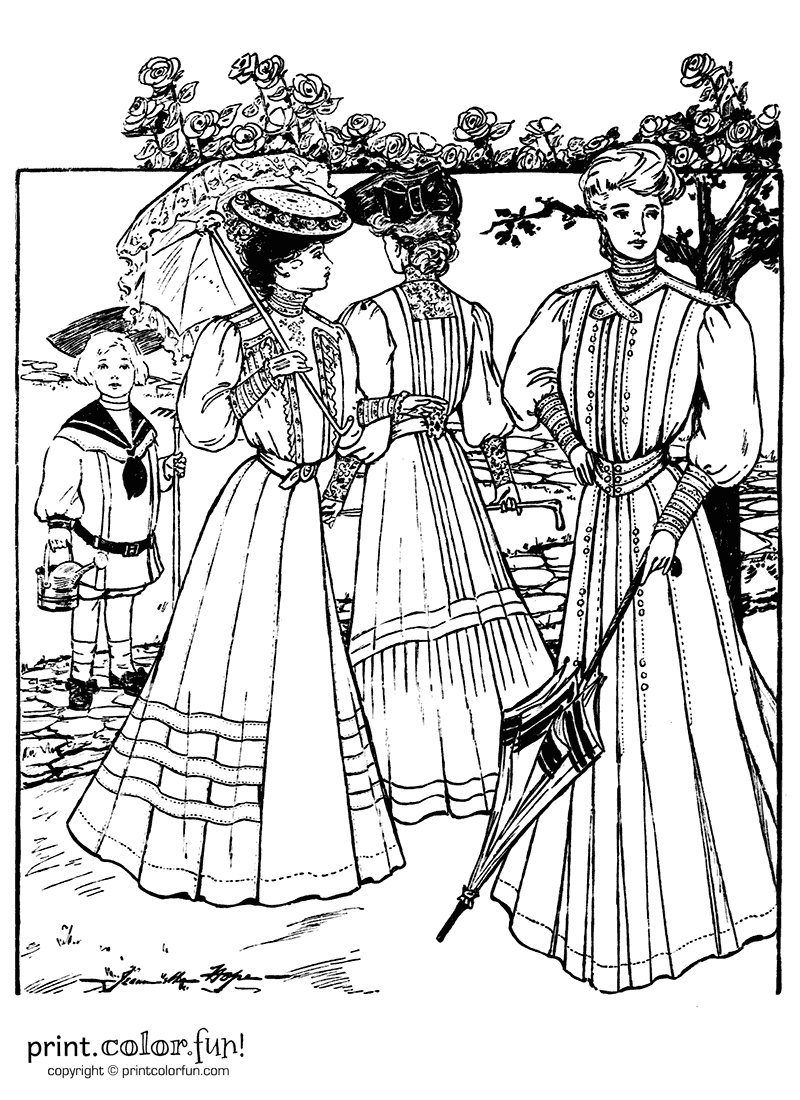 Dresses from the summer of 1905