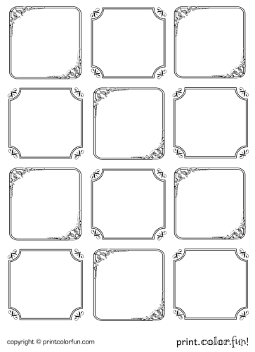 Elegant Gift Tags Coloring Page