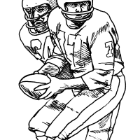 Football coloring pages: Free sports printables
