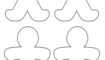 Blank Gingerbread Man Coloring Page Print Color Fun