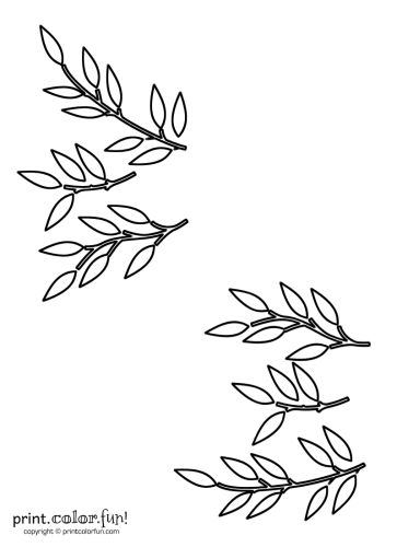 Leaf and stem stencils
