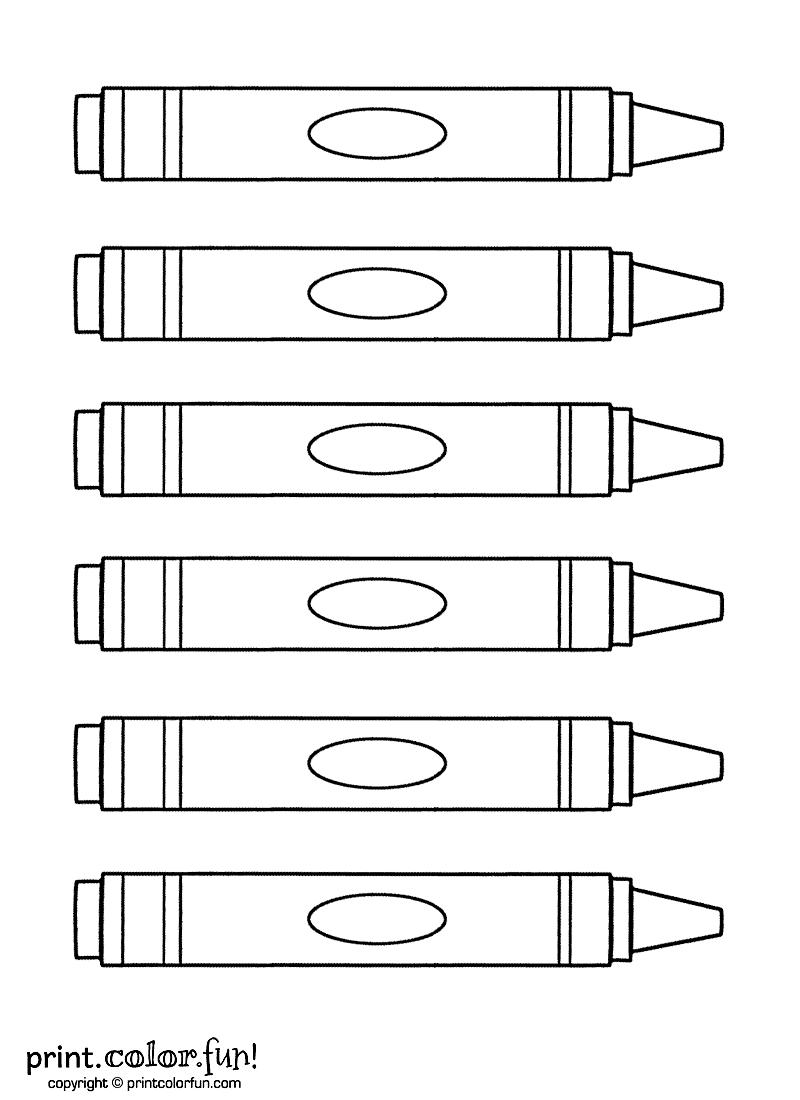 Six crayons