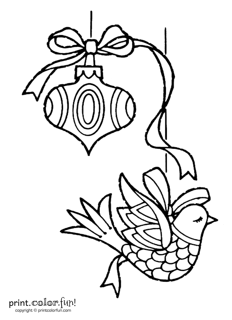 ornament printable coloring pages - photo#36