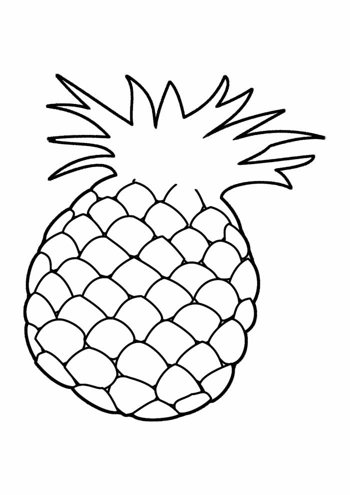 8 Pineapple Coloring Pages Coloring Pages