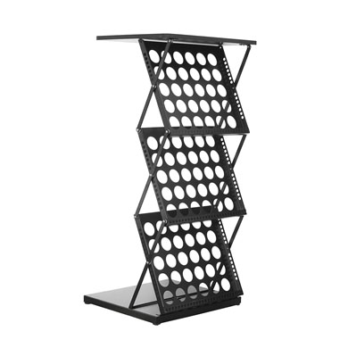 Brochure Stand Holder A3 with Table Top (Zig Zag Stand) Black - Side