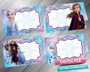 frozen 2 birthday invitation and
