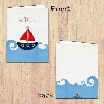 pbm- you float my boat card board