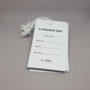 Hotel Standard Luggage Tags