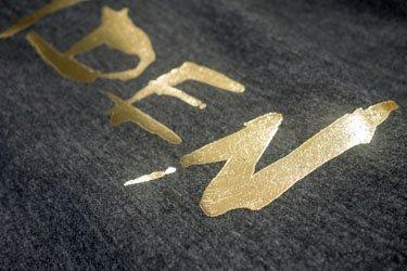 Golden metallic print