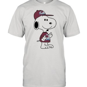 Snoopy Colorado Avalanche NHL Double Middle Fingers Fuck You  Classic Men's T-shirt