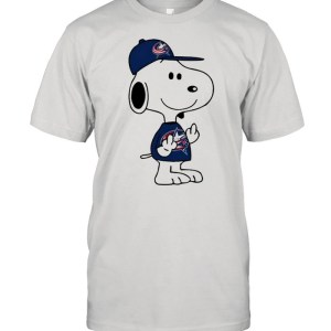 Snoopy Columbus Blue Jackets NHL Double Middle Fingers Fck You  Classic Men's T-shirt