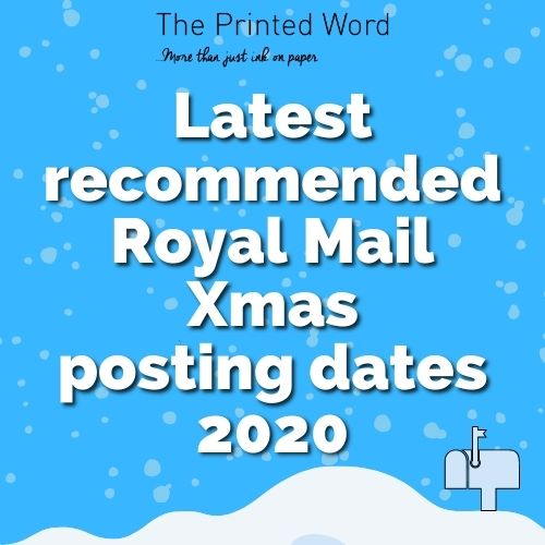 Xmas Posting Dates 2020