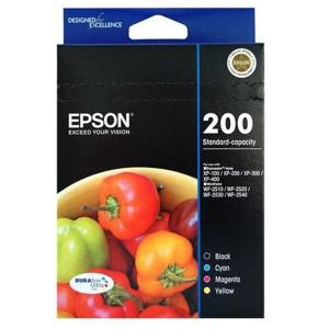 epson 200 value pack 4 pack ink cartridge
