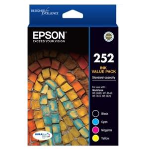 epson 252 value pack 4 pack ink cartridge