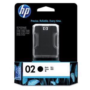 hp 02 black printer ink