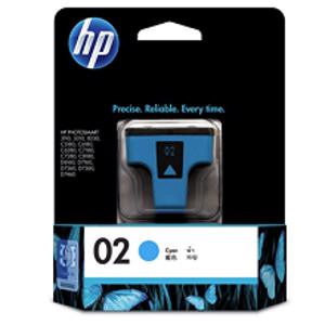 hp 02 cyan printer ink