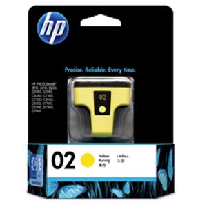 hp 02 yellow printer ink