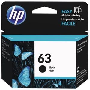 hp 63 black printer ink