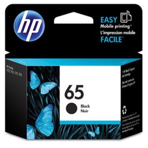 hp 65 black printer ink