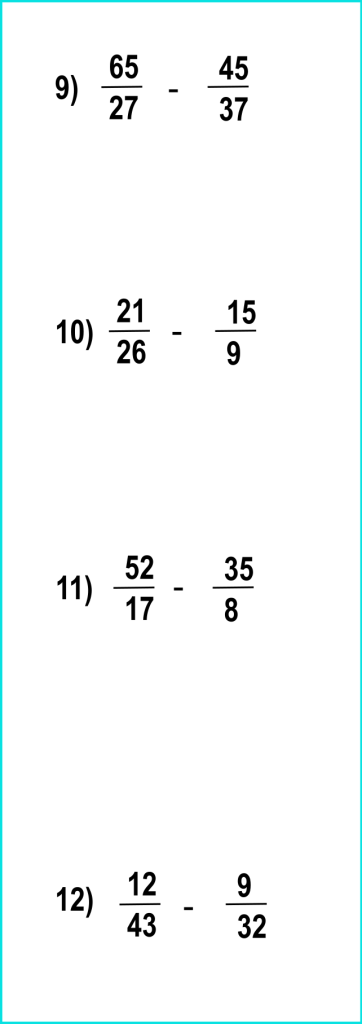 fraction subtraction