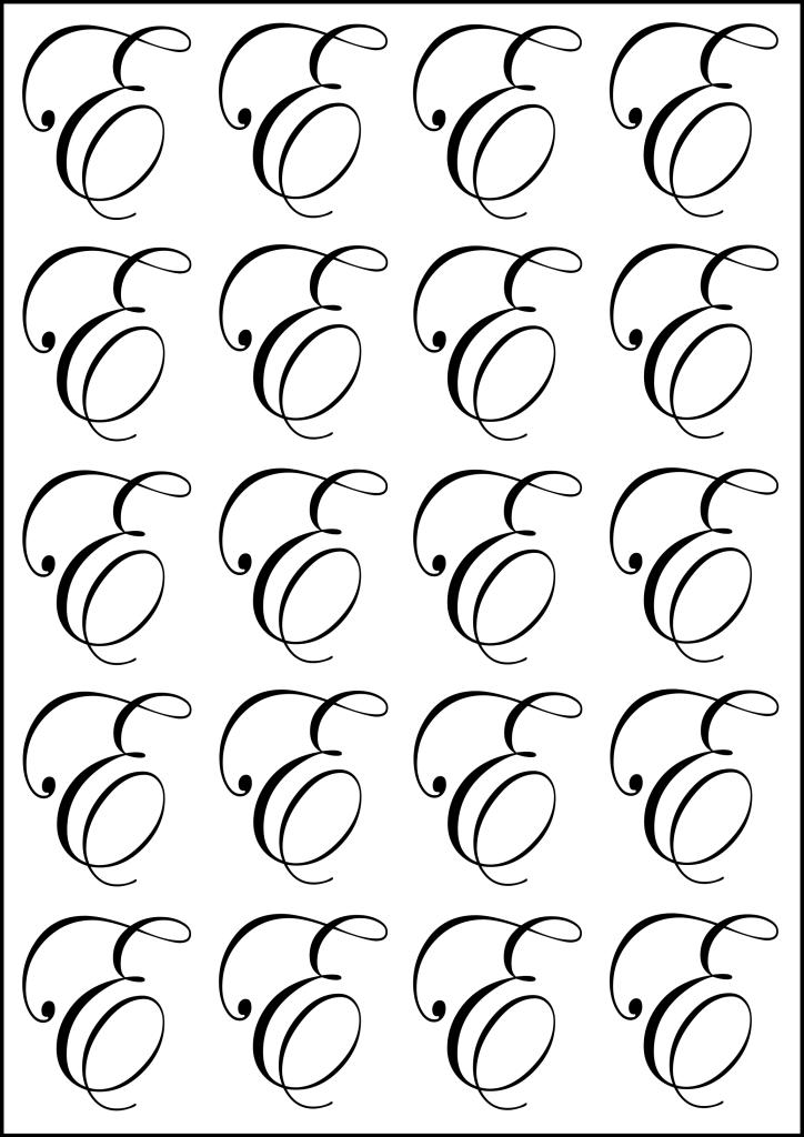 fancy letter E
