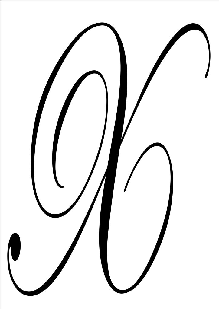 fancy letter x