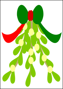 Printable Christmas mistletoe decoration