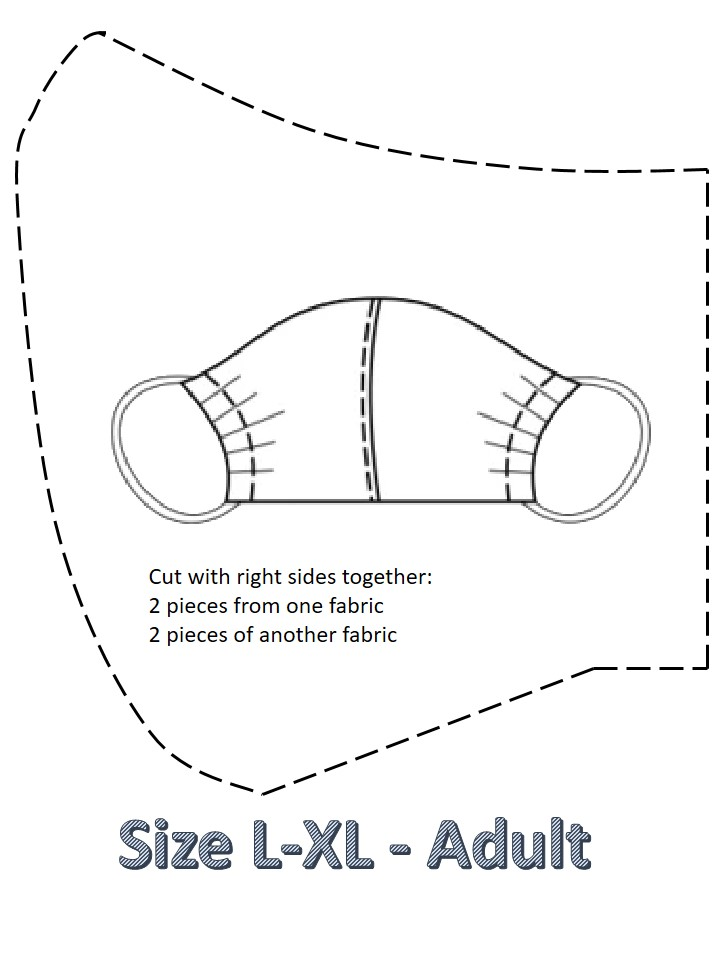 size XL adult facemask Pattern for adults