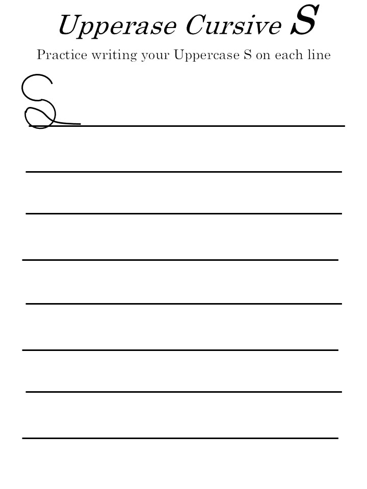 letter 's' worksheets uppercase 's'