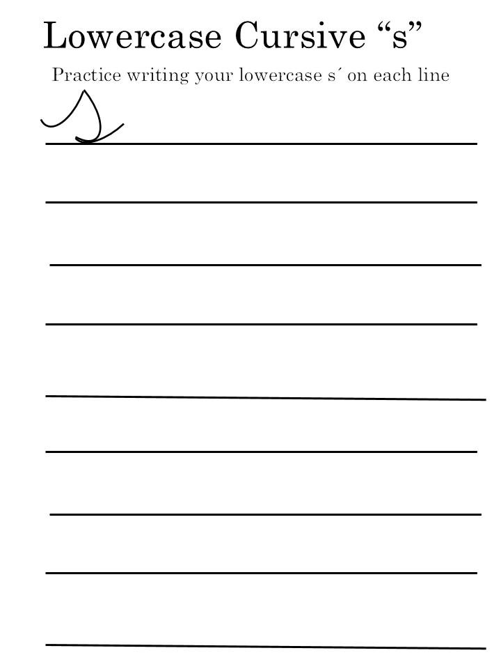 letter 'S' worksheets
