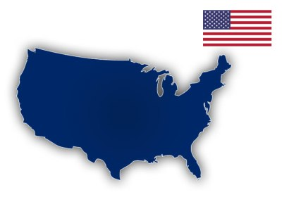 USA FLAG MAP
