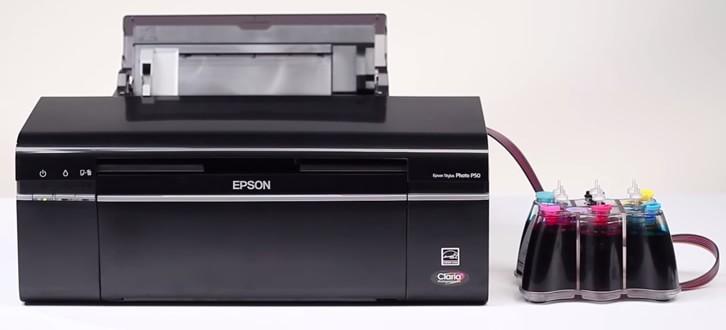 Емкости на одном уровне с принтером