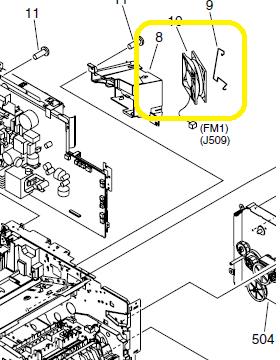 Troubleshooting the 57.04 Error on the HP P3005 LaserJet Printer