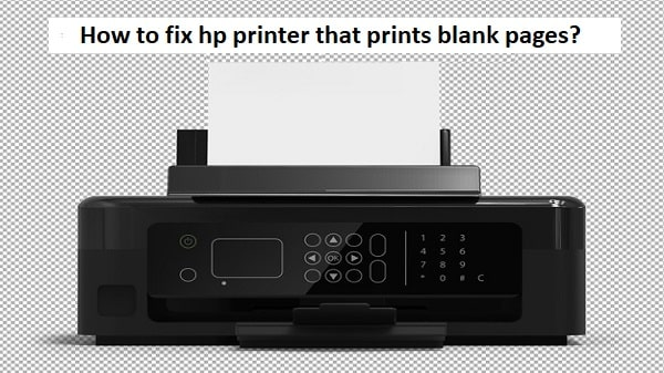 hp printer that prints blank pages