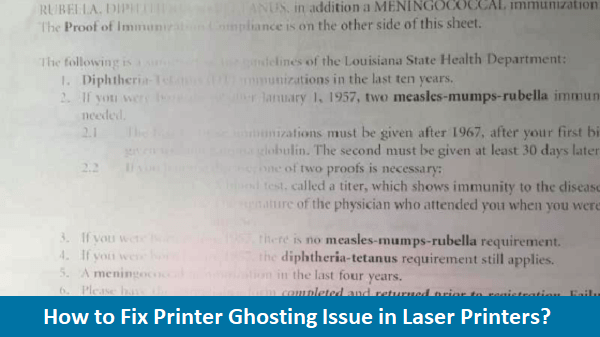 Fix Printer Ghosting Issue